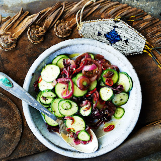 Cucumber and Charred Onion Salad