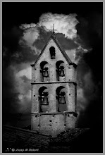 """Photo: #SacredSunday curators +Charles Lupica +Manfred Berndtgen   given that the photo that I shared yesterday had a ominous component that a gothic building could make think enclosed princesses, or vampires. :-) . The belfry of a church of """"Salon in Provence"""" (the village of Nostradamus) I share with you today to """"improve"""" the situation. I don't know if this will serve to undo the spell either will be even worse.:-))) . You think?  To: +John Dusseault +Yvette Depaepe +Kurt Harvey three wonderful G+ friends"""