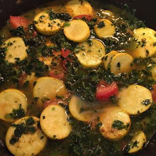 Summer Squash Spinach Curry .