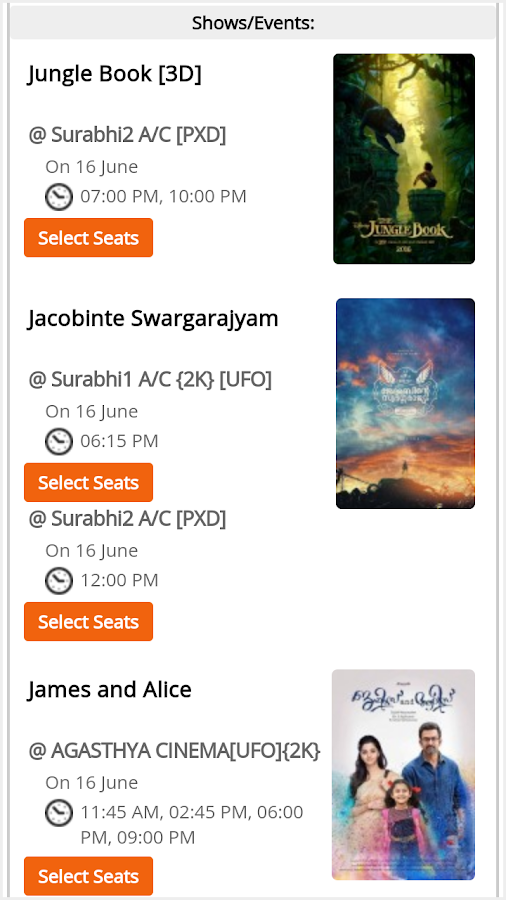 CatchMySeat Event Tickets- screenshot