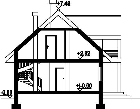 Olesno 5dws - Przekrój