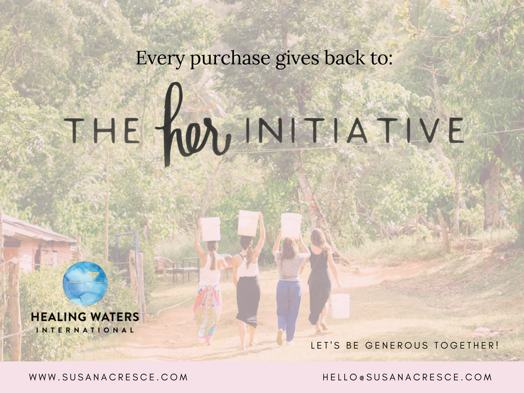 Every Susana Cresce planner Gives back to the Her Initiative