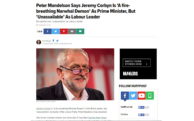Corbyn to Narwhal