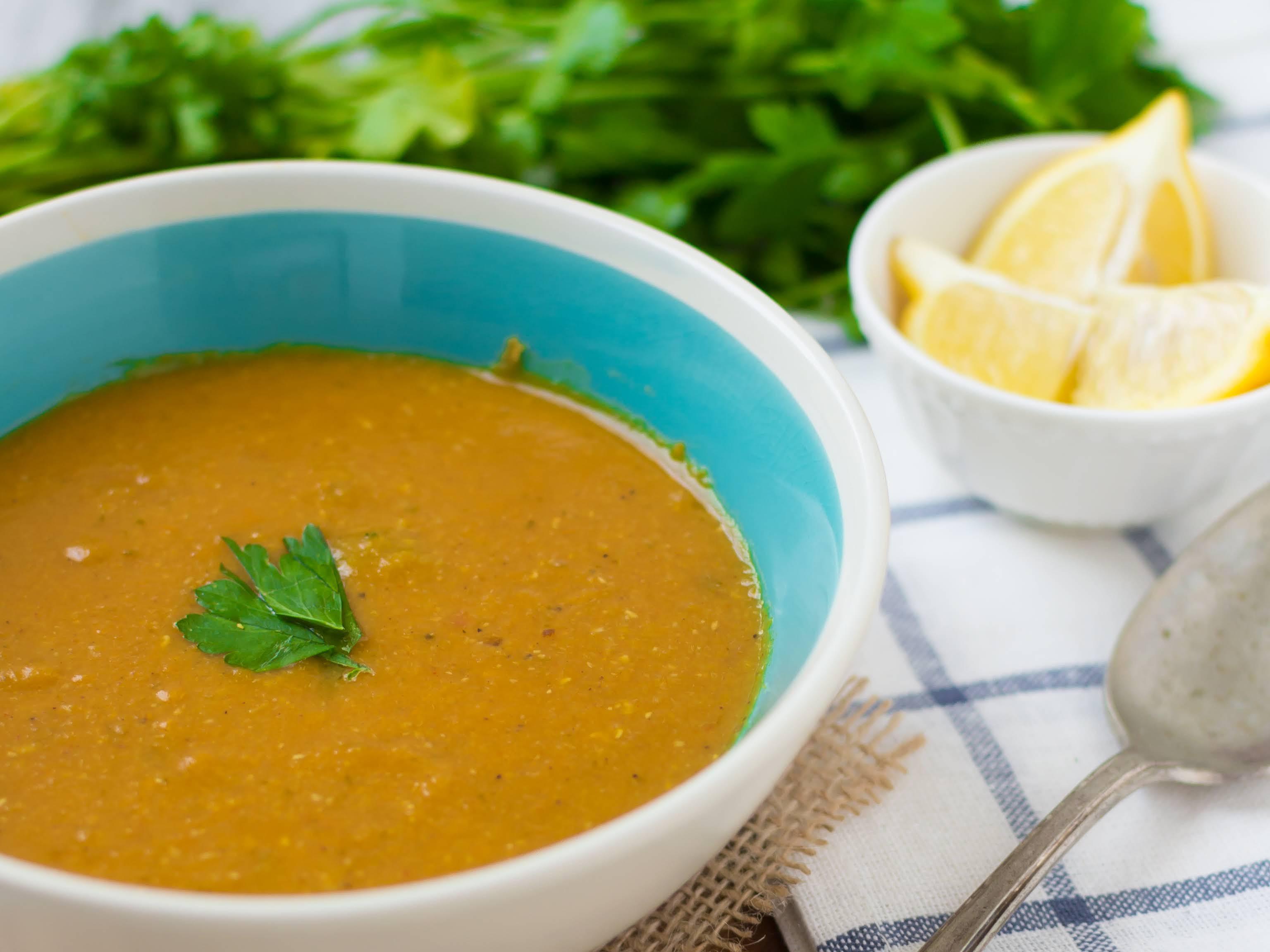Slow Cooker Red Lentil Soup Dal