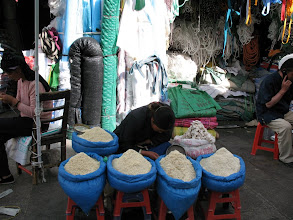 Photo: dried yak cheese sorted by size of granule