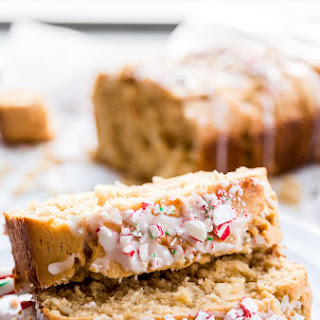 Peanut Butter Coconut Bread with Peppermint Glaze