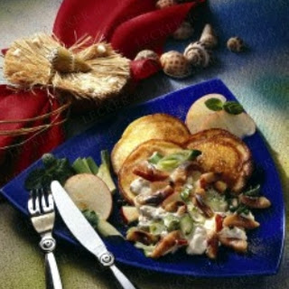 Matjes mit Quarkpfannkuchen
