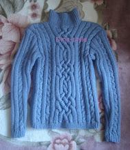 Photo: мужской вязаный свитер с косами