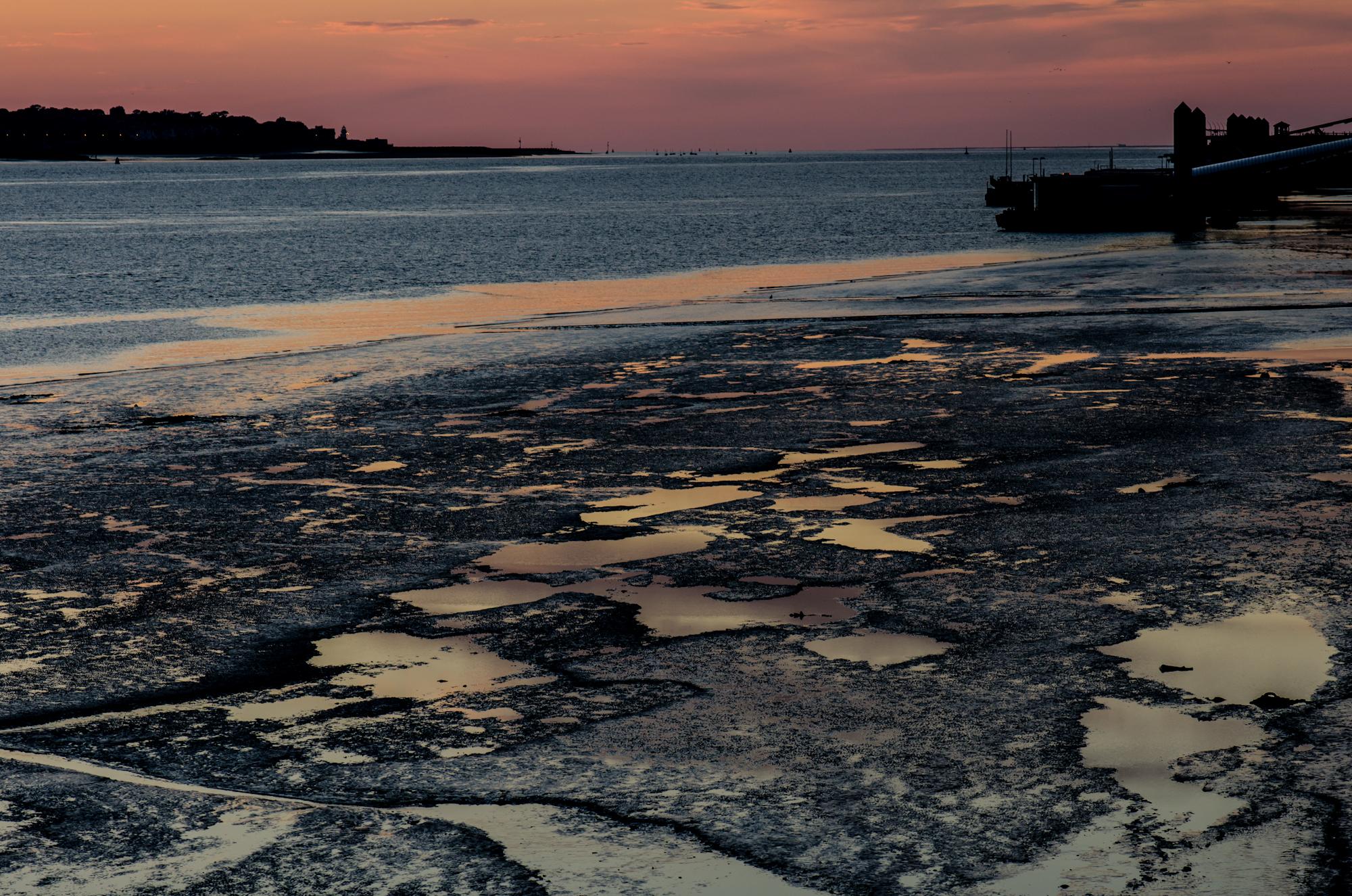 Photo: Mersey docks at dusk
