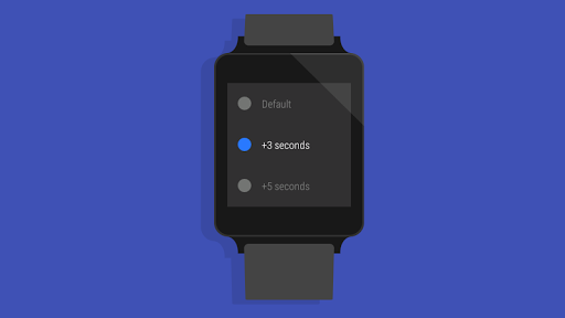Screen Timeout for Wear