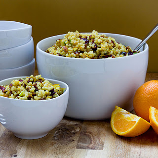 Orange Cranberry Pecan Couscous Salad