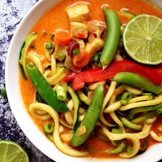 Thai Tofu Zoodle Soup.