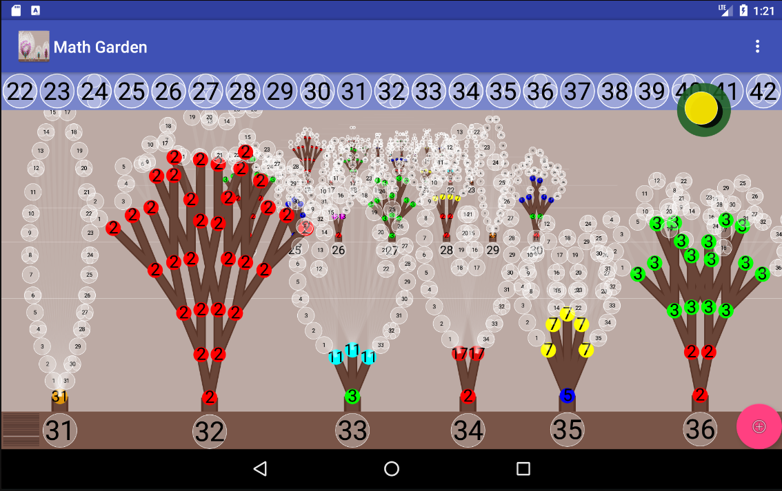 Math Garden- screenshot