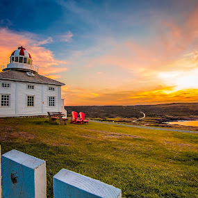 Cape Spear during Golden Hour by Nathan Eddy - Landscapes Sunsets & Sunrises ( amazing, explore, newfoundland, sunset, golden )