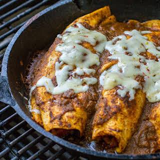 Grilled Pulled Pork Enchiladas.