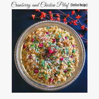 Cranberry and Chicken Pilaf – Festive