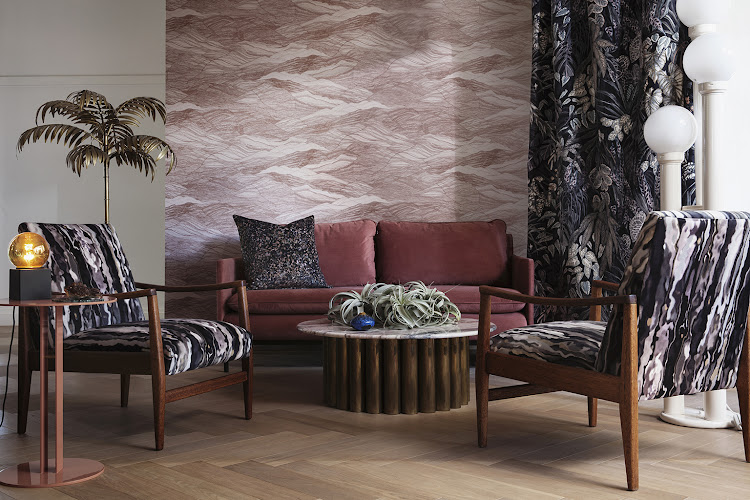 Aureum Design's Tanglewood Collection of textiles and wallpapers in collaboration with fabric house T&Co and digital printing specialists Lemon