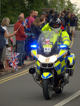 Photo: Police gripped by festive spirit of Olympic flame's imminent arrival
