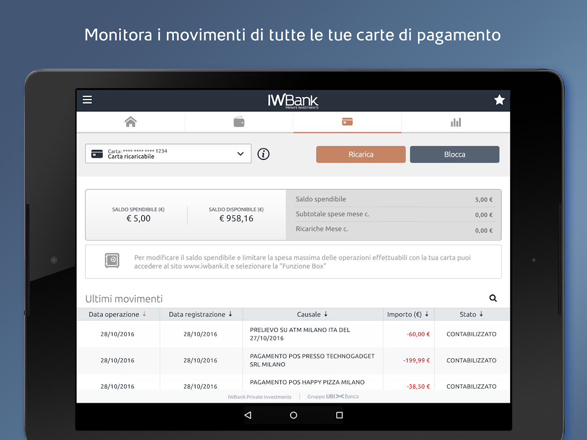IWBank- screenshot
