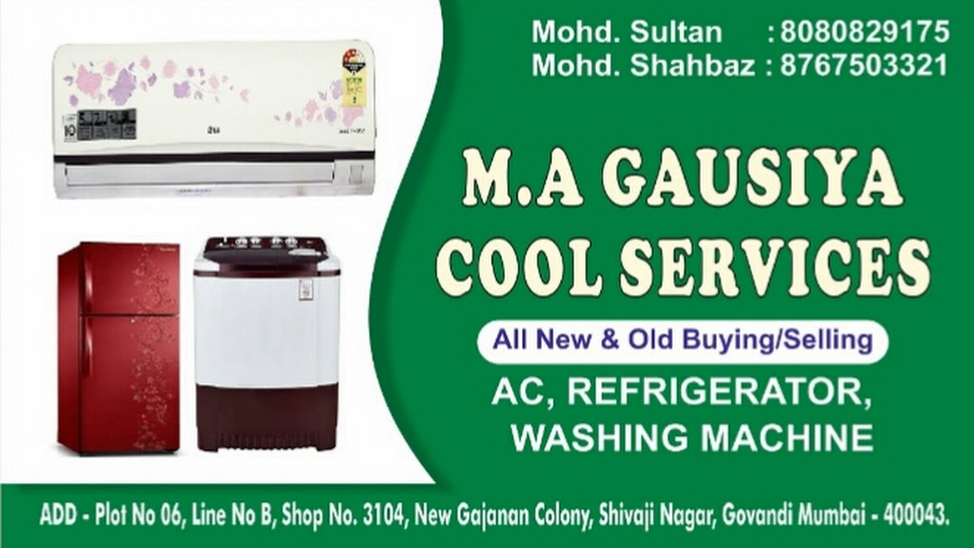 M A Gausiya air Cool Services - All kind of electronic