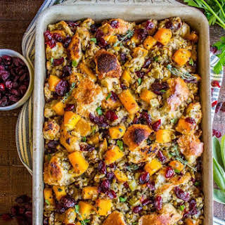 Butternut Squash, Cranberry, and Lentil Stuffing.
