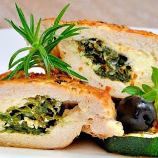 Chicken Breast Stuffed With Goat Cheese And Herbs.