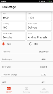 Brokerage Calculator - náhled