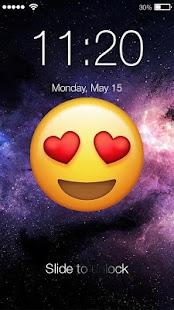 Emoji Space PIN Screen Lock - náhled