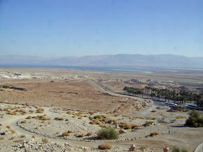 Photo: A view back towards the Dead Sea from the Masada approach