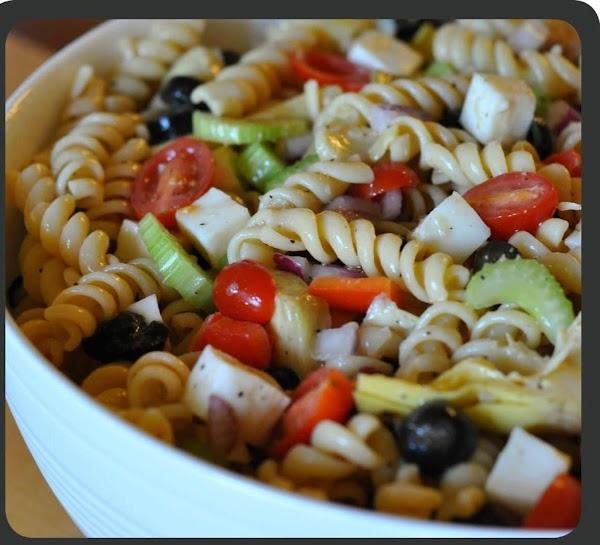 Pasta Salad Blue Cheese W/ Italian Dressing Recipe
