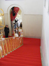 Photo: The elegant Murat Staircase leads to the upper level. The original building did not contain a central staircase, and so this one (the subject of an 1808 painting by Francois Gerard of Caroline Murat descending it) was added in 1806.