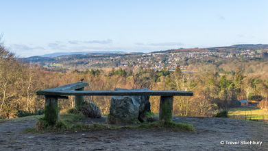 Photo: The view to Cults Reservoir from Tollohill Woods, Aberdeen