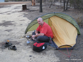 Photo: Stuart chilling out at Forrestania Plots - The Granite and Woodlands Discovery Trail