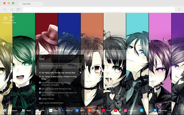 Hanayo Koizumi Top HD Anime New Tabs Theme
