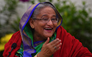 Bangladesh Prime Minister Sheikh Hasina smiles while speaking at a press conference in Dhaka on December 31 2018.