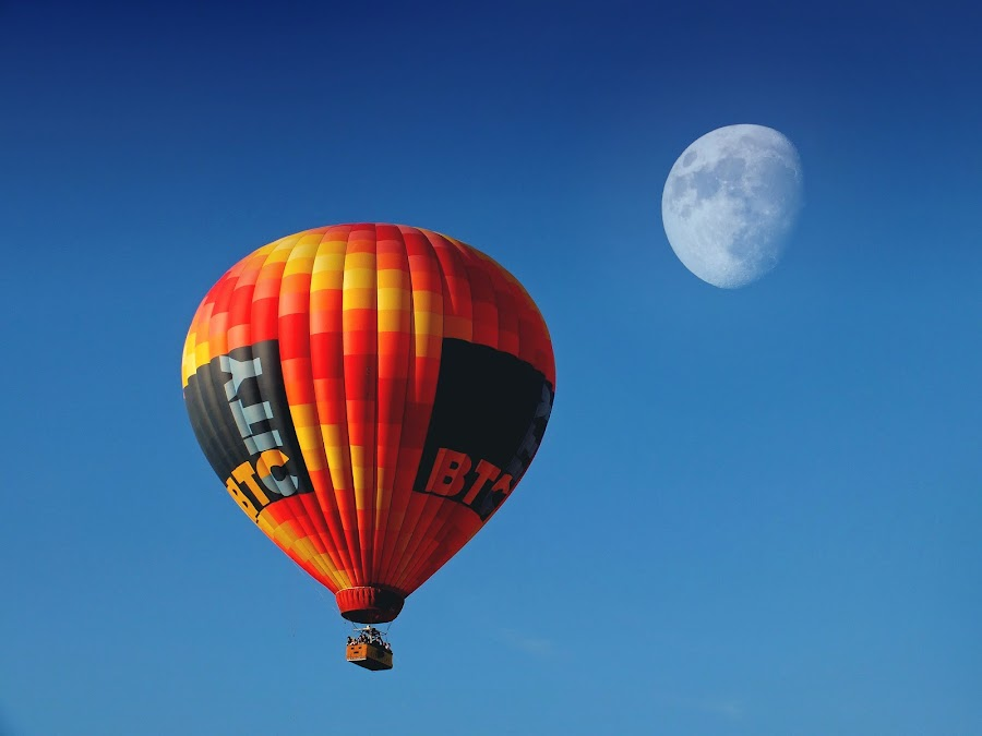 Skybus: Fly Me To The Moon by Brut Carniollus - Transportation Other ( beauty, baloon, inspirational, representing, air, transport, inspiring, people, special, beautiful, moon, places, hot air, world, emotion, freedom, inspire, free )