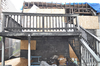 Photo: Traylor residence after fire.