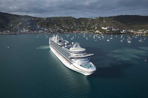 emerald-princess-in-st-thomas.jpg - Emerald Princess in St. Thomas in the U.S. Virgin Islands.