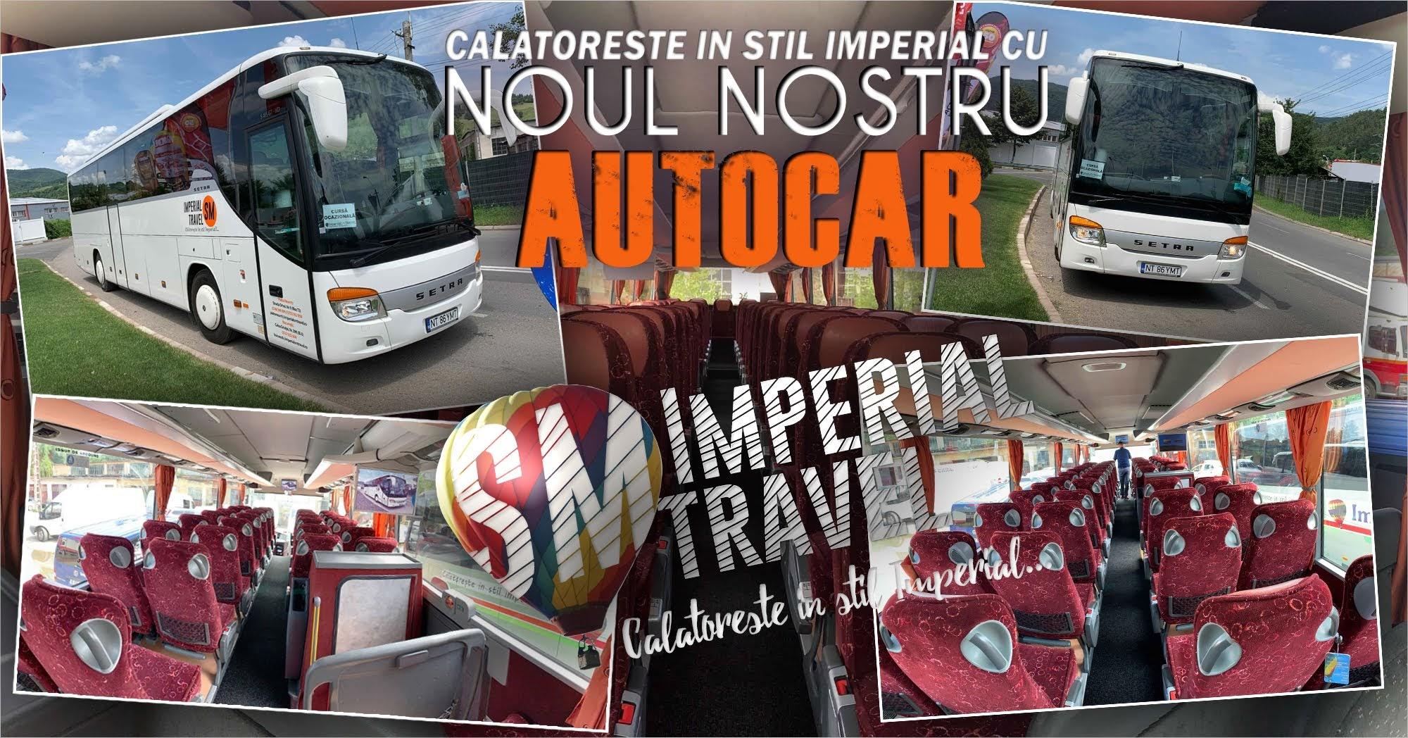 Călătorește în stil imperial cu noul nostru Autocar!