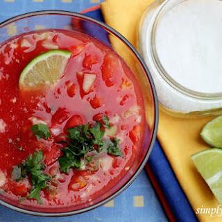 Watermelon Gazpacho with Lime