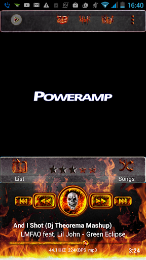 Poweramp Skin Inferno