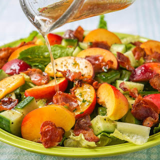 Honey Lemon Vinaigrette on Peach Bacon Salad Recipe