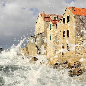 Splash... by Zvonimir Cuvalo - News & Events Weather & Storms ( sea storm, splash, wave, prvic sepurine, storm )