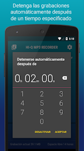 Hi-Q MP3 Grabador de Voz (Gratis) Screenshot