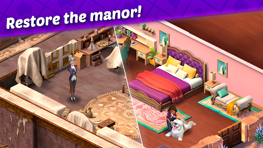 Ava's Manor – A Solitaire Story Mod Apk (Unlimited Lives + Money) 2