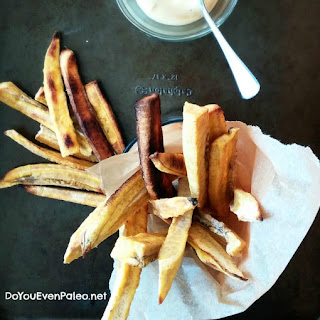 Baked Plantain Fries (with Chipotle Mayo).