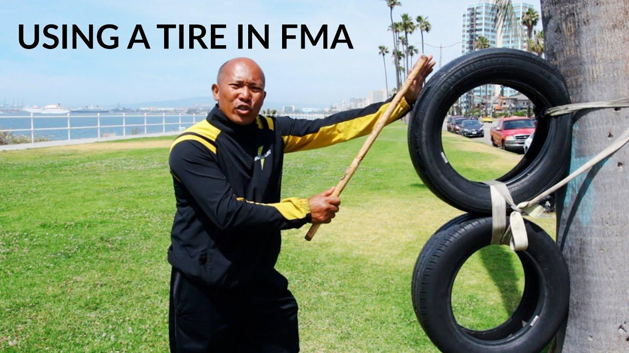 Using a Tire In Filipino Martial Arts - YouTube