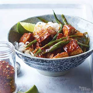 Hoisin-Glazed Tofu & Green Beans.
