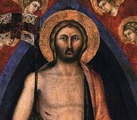 Niccolò di Segna,Polittico della Resurrezione (dettaglio del Cristo circondato da dieci cherubini)