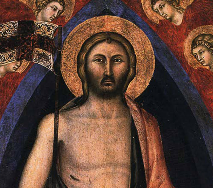 Niccolò di Segna, Polittico della Resurrezione, particolare del Cristo, 1348 circa, Duomo di Sansepolcro